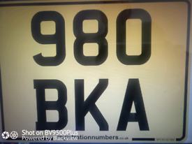 PRIVATE NUMBER PLATE 980 BKA