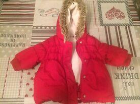Girls Next Winter Coat in Red