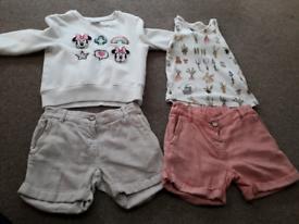 Age 3-4 Next Girl Clothes Bundle.Shorts, Jean's, T-shirts & Cardigans
