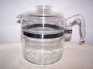 PYREX 6, 4, & 9 CUP COFFEE / TEA POT - NO INSIDES GREAT FOR TEA