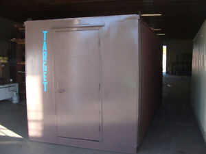 8ft Shipping container with man door
