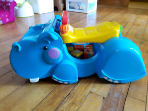 Fisher price walker / ride on toy hippo