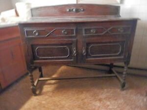 Antique Jacobean Sideboard and Chairs 1900's London Ontario image 1