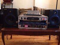 Studio gear - mixer/monitors/case + more