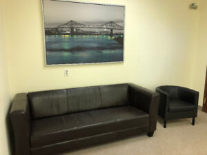 Office sofa and armchair for sell
