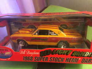 Diecast cars in 1:18 scale. Movie cars, drag cars, muscle cars,