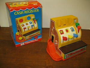 Fisher Price Cash Register -- FROM PAST TIMES Antiques & Coll