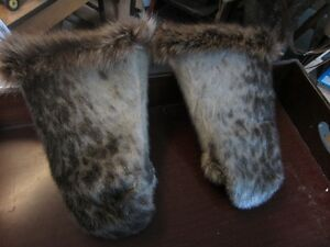 SEAL SKIN MITTEN'S,AND WOLF FUR Peterborough Peterborough Area image 1
