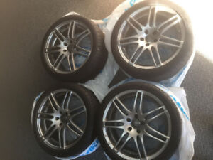 FOR SALE-AUDI S4 RIMS WITH TIRES