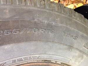 4 tires used-  studded  -great value- West Island Greater Montréal image 2