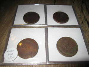Collection of 1700s-1800s Imperial Russian Silver & Bronze Coins Edmonton Edmonton Area image 9