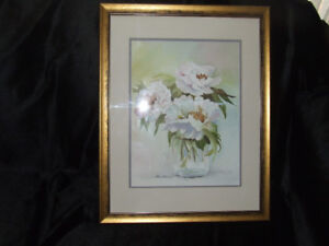 WHITE PEONIES BY J.BUTT PRINT