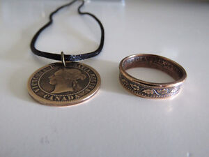 Rings from antique coins Belleville Belleville Area image 1
