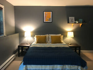 Large furnished Bedroom with separate entrance