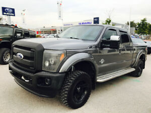 2011 FORD F-350 LARIAT FX4,CREW, 6.7 DIESEL,LEATHER,NAVI,LIFTED!