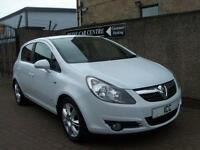 09 09 REG VAUXHALL CORSA 1.4 16V SXI SPORT 5DR WHITE LOW MILEAGE FSH SPORTS PACK