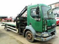2002 Daf LF 55-180TI 15 Ton Day Cab Atlas 3008 Crane, WILL BREAK