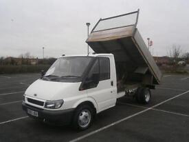 FORD TRANSIT 350 2.4TD MWB TIPPER TRUCK IN WHITE 10.6ft ALLOY BODY NO VAT TO PAY