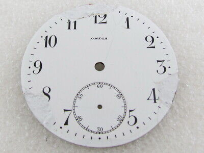 Omega Antique Swiss Pocket Watch Original White Porcelain Dial (Watch-face)