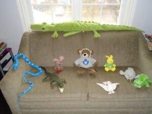 Stuffies and reptiles