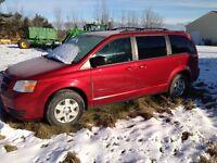 2008 Dodge Caravan black Minivan, Van