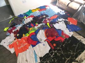 Multiple football kits