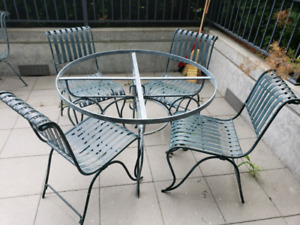 Nice rod iron outdoor furniture for sale