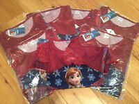 Job lot of kids Anna 'Frozen' nighties (x7)