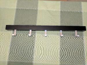 Ikea Tjusig wall rack, black