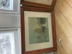 Four Oak framed with glass DeGarthe prints , all for $200