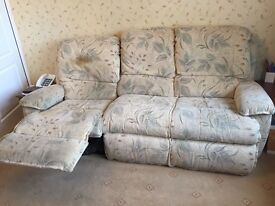 3 seater recliner sofa and chair