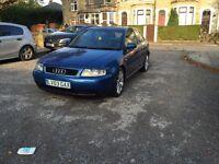 AUDI A3 TDI 1.9 2003 REG 3 DOOR BLUE