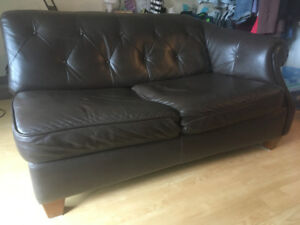 Moving Sale-Leather Loveseat Sofa