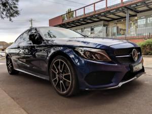 Mercedes C43 amg coupe 2016 blue