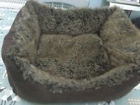 Gorgeous fluffy dog bed ideal for a puppy or small dog.