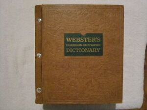 Webster's Unabridged Encyclopedic Dictionary 1957
