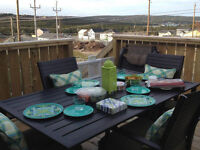 4 PERSON PATIO SET WITH SEAT CUSHIONS