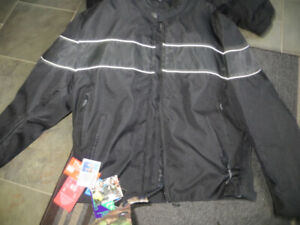 motorcycle jacket new mens xxl black