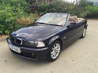 2001 BMW 320i CONVERTIBLE 1 OWNER HISTORY MOT LOVLEY CAR