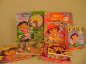 Dora Books/ Series & 3 Plush
