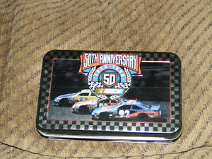 50th NASCAR Anniversary Tin & 2 Decks Of Playing Cards (NEW) $5