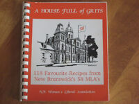"NB WOMEN'S LIBERAL ASSOC. COOKBOOK 1980'S, ""HOUSE FULL OF GRITS"""