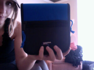 CD Cases, blue and black.