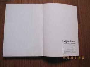 1972 Alfa Romeo 2000 Spider Veloce Owners Manual Sarnia Sarnia Area image 8
