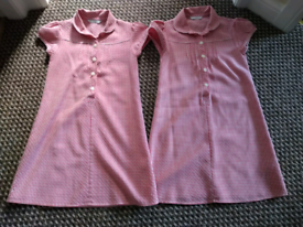 marks and spencer school summer dress age 8 X2 blue gingham