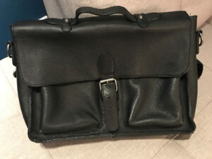 BRAND NEW CORPORATE BLACK LEATHER BAG
