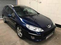 Peugeot 407 SW SE Luxury 2.0 Hdi 2 Owners Panoramic Sun roof Park Sensors Leather 3 Month Warranty