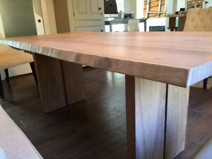 LIVE EDGE DINNING TABLE - still available