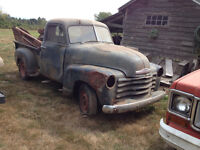 1949-50 Chevy pu's,   Lots of good parts