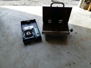 Camping stove and barbecue